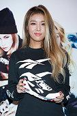 Kim Yubin aka Kim YuBin of South Korean girl group Wonder Girls attends the autograph session for 'Reebok' INFERNO on December 11 2015 in Seoul South...