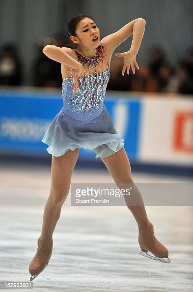 Kim Yuna of Korea dances during the senior ladies short program of the NRW trophy 2012 at Eissportzentrum on December 8 2012 in Dortmund Germany