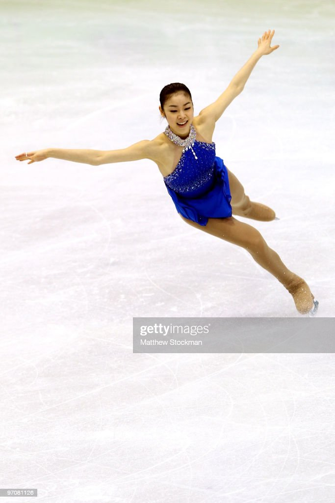 Kim YuNa of South Korea competes in the Ladies Free Skating on day 14 of the 2010 Vancouver Winter Olympics at Pacific Coliseum on February 25 2010...