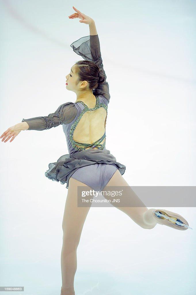 Kim Yu-Na performs during day three of Korea Figure Skating Championshpis 2013 at Mokdong Ice Rink on January 6, 2013 in Seoul, South Korea.