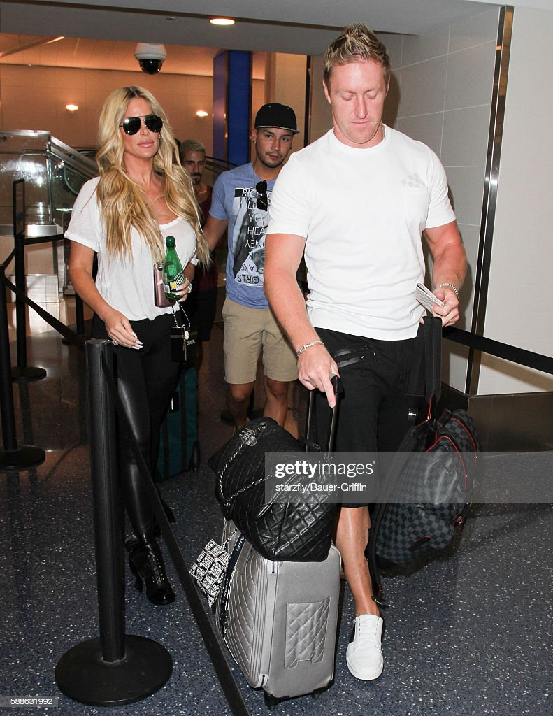 Kim Zolciak and Kroy Biermann are seen at LAX on August 11 2016 in Los Angeles California