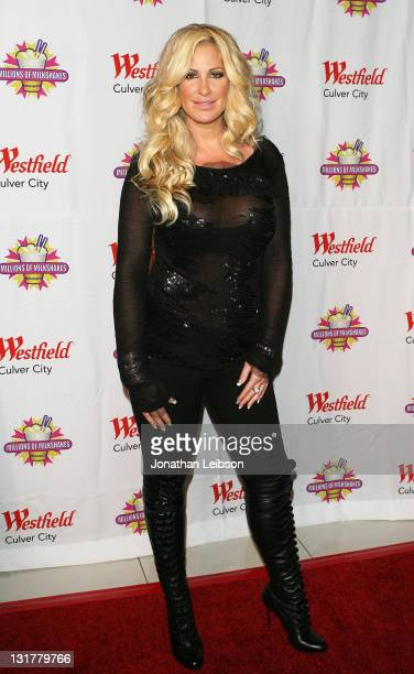Kim Zolciak arrives for the UNITE Hair Care Million Dollar Donation To LA Mission at Millions Of Milkshakes on October 19 2010 in Culver City...