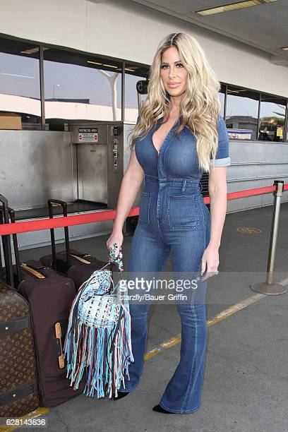 Kim Zolciak is seen at LAX on December 06 2016 in Los Angeles California