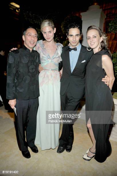 Kimball Chen Carmen Scott Zac Posen and Hope Atherton attend HAUT BRION 75th Anniversary at The Metropolitan Museum of Art on July 12 2010 in New...