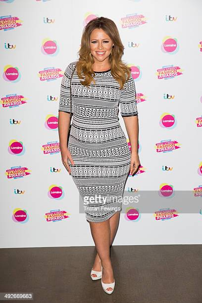 Kimbeley Walsh attends Lorraine's High Street Fashion Awards on May 21 2014 in London England
