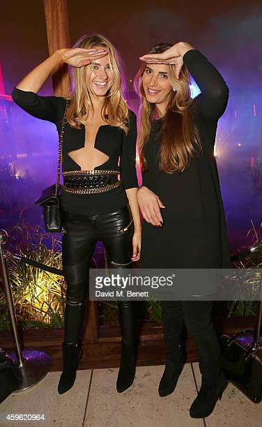 Kimberley Garner and Harriet Loder attend an exclusive party to celebrate the imminent arrival of 'City Island by Ballymore' a new island...