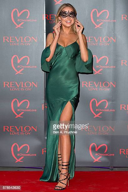Kimberley Garner arrives for the Revlon Choose Love Masquerade Ball at Victoria and Albert Museum on July 21 2016 in London England