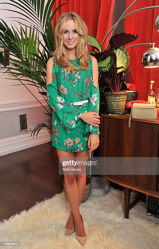 Kimberley Garner attends as Molton Brown and Giles Deacon launch a collaboration at the ICA on April 17, 2013 in London, England.