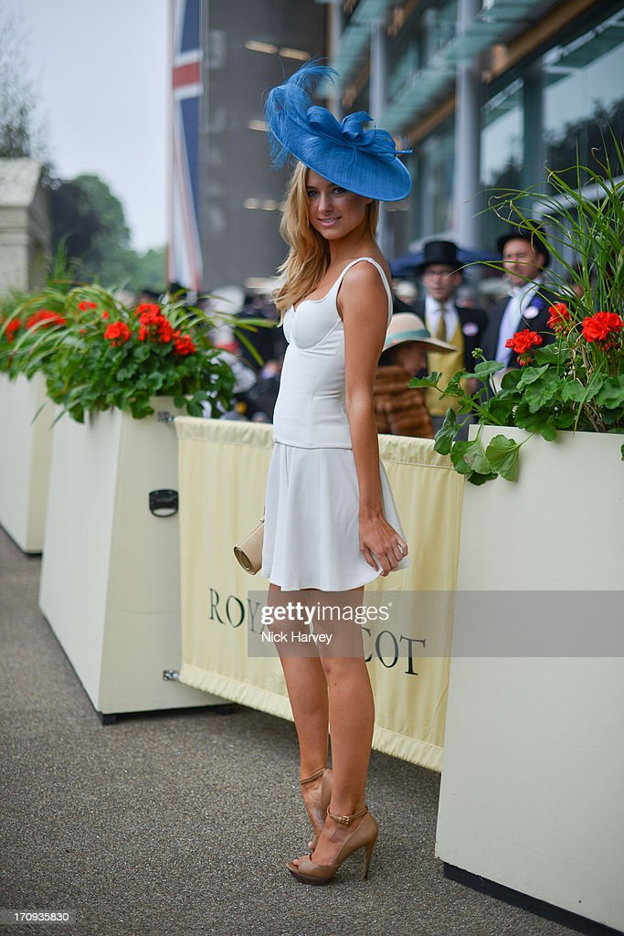 Kimberley Garner attends Ladies day on Day 3 of Royal Ascot at Ascot Racecourse on June 20, 2013 in Ascot, England.