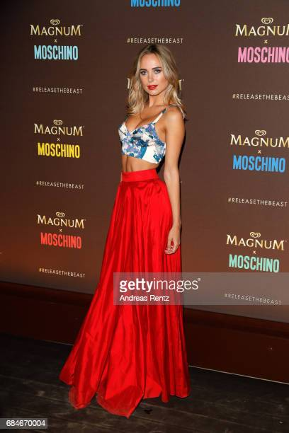 Kimberley Garner attends Magnum party during the 70th annual Cannes Film Festival at Magnum Beach on May 18 2017 in Cannes France