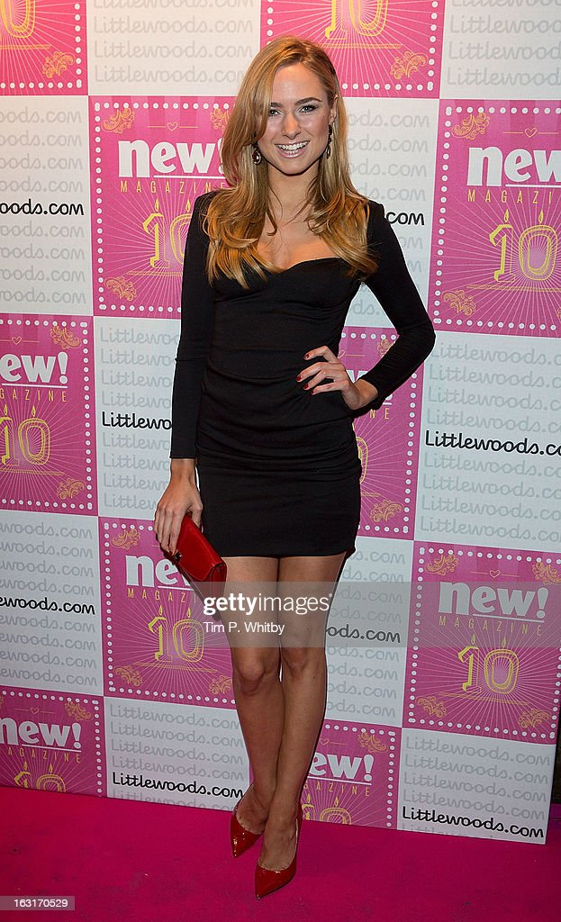 Kimberley Garner attends New Magazine Celebrates 10 years in print at Gilgamesh on March 5, 2013 in London, England.