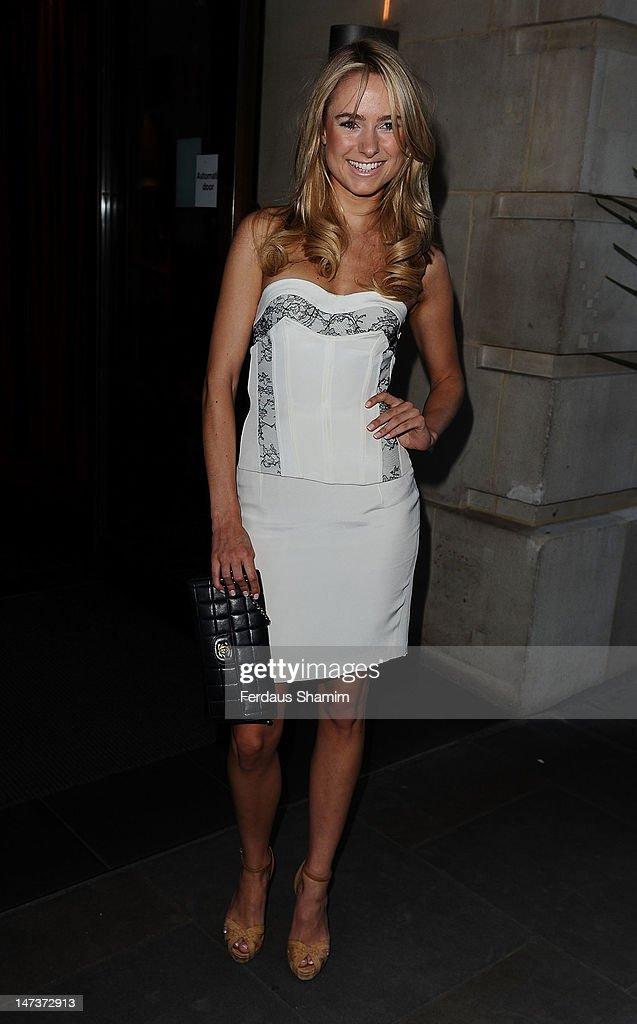 Kimberley Garner attends Slazenger's pre-Wimbledon party at Aqua on June 28, 2012 in London, England.
