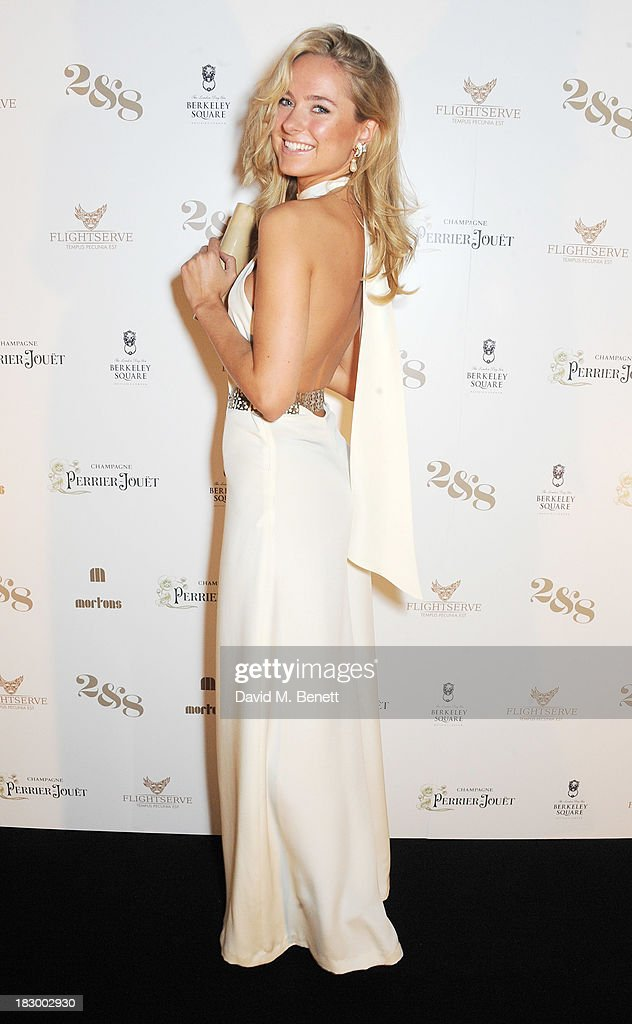 Kimberley Garner attends the 1st birthday party of 2&8 Club inside Mortons on October 3, 2013 in London, England.