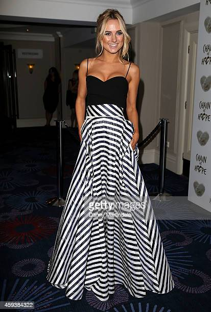 Kimberley Garner attends the Chain of Hope ball at Grosvenor House on November 21 2014 in London England