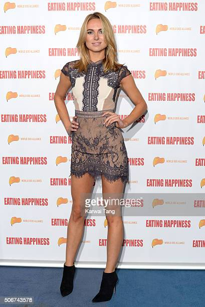 Kimberley Garner attends the 'Eating Happiness' VIP screening at the Mondrian Hotel on January 25 2016 in London England
