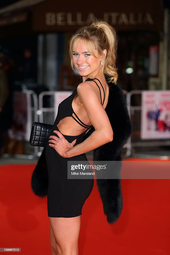 Kimberley Garner attends the European Premiere of 'I Give It A Year' at Vue West End on January 24, 2013 in London, England.