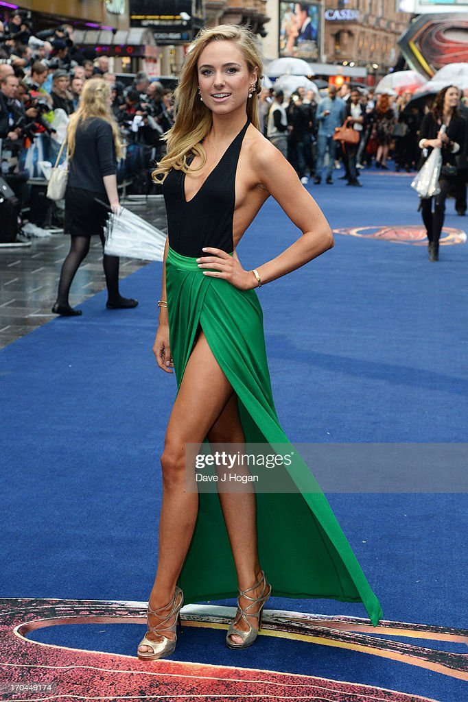Kimberley Garner attends the European premiere of 'Man Of Steel' at The Empire Leicester Square on June 12, 2013 in London, England.