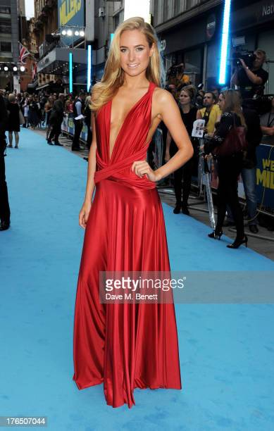 Kimberley Garner attends the European Premiere of 'We're The Millers' at Odeon West End on August 14 2013 in London England