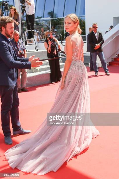 Kimberley Garner attends the 'How To Talk To Girls At Parties' screening during the 70th annual Cannes Film Festival at Palais des Festivals on May...