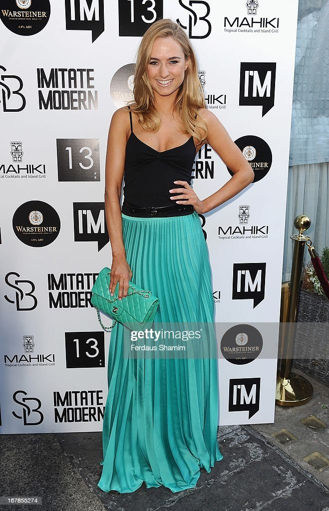 Kimberley Garner attends the Human Relations private view at Imitate Modern on May 1, 2013 in London, England.