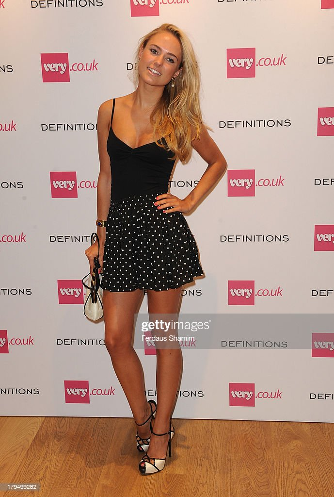 <a gi-track='captionPersonalityLinkClicked' href=/galleries/search?phrase=Kimberley+Garner&family=editorial&specificpeople=9081186 ng-click='$event.stopPropagation()'>Kimberley Garner</a> attends the launch party of very.co.uk's Definitions range at Somerset House on September 4, 2013 in London, England.