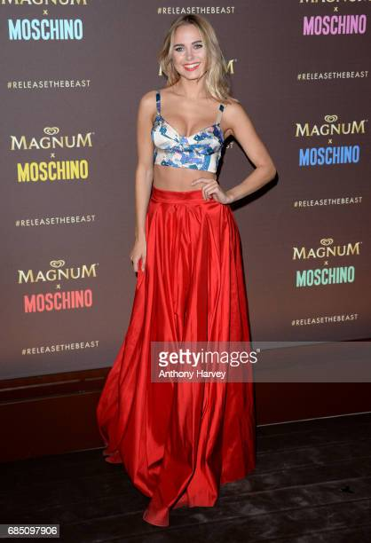 Kimberley Garner attends the Magnum party during the 70th annual Cannes Film Festival at Magnum Beach on May 18 2017 in Cannes France
