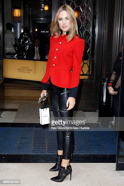 Kimberley Garner attends the Marko Mitanovski S/S16 catwalk show on September 22 2015 in London England Photo by Neil Mockford/Alex Huckle/GC Images