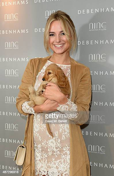 Kimberley Garner attends the Nine by Savannah Miller for Debenhams Launch Party at The Roof Terrace Ham Yard Hotel on September 8 2015 in London...