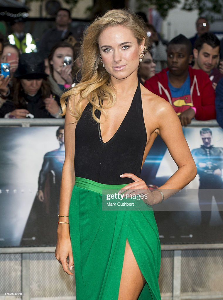 Kimberley Garner attends the UK Premiere of 'Man of Steel' at Odeon Leicester Square on June 12, 2013 in London, England.