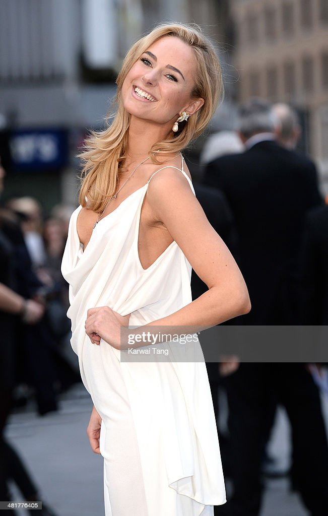 Kimberley Garner attends the UK premiere of 'Noah' held at the Odeon Leicester Square on March 31, 2014 in London, England.