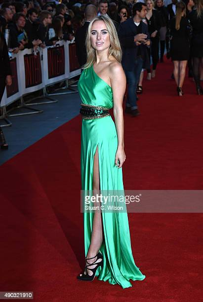Kimberley Garner attends the UK Premiere of 'The Intern' at Vue West End on September 27 2015 in London England