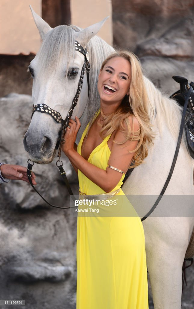 Kimberley Garner attends the UK Premiere of 'The Lone Ranger' at Odeon Leicester Square on July 21, 2013 in London, England.