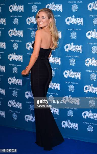 Kimberley Garner attends the VIP night for Cirque Du Soleil Quidam at Royal Albert Hall on January 7 2014 in London England
