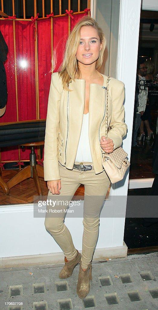 Kimberley Garner leaving the Dolce & Gabbana store on Bond Street on June 15, 2013 in London, England.