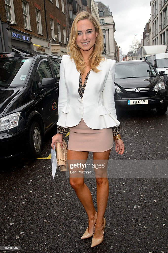 Kimberley Garner sighted arriving at the Arts Club on March 25, 2014 in London, England.