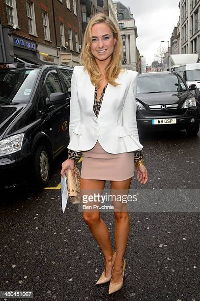Kimberley Garner sighted arriving at the Arts Club on March 25 2014 in London England