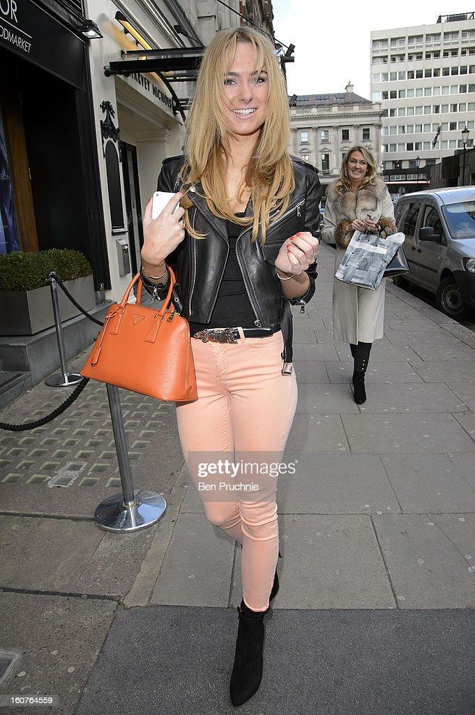 Kimberley Garner sighted in Knightsbridge on February 5, 2013 in London, England.