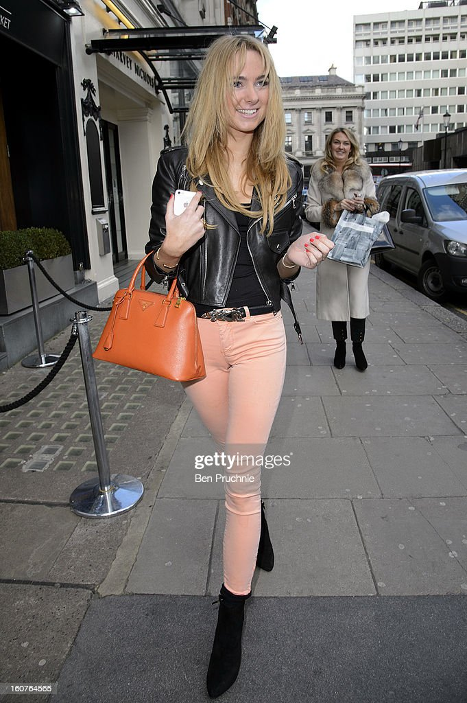 Kimberley Garner sighted in Knightsbridge on February 5, 2013 in London, England.