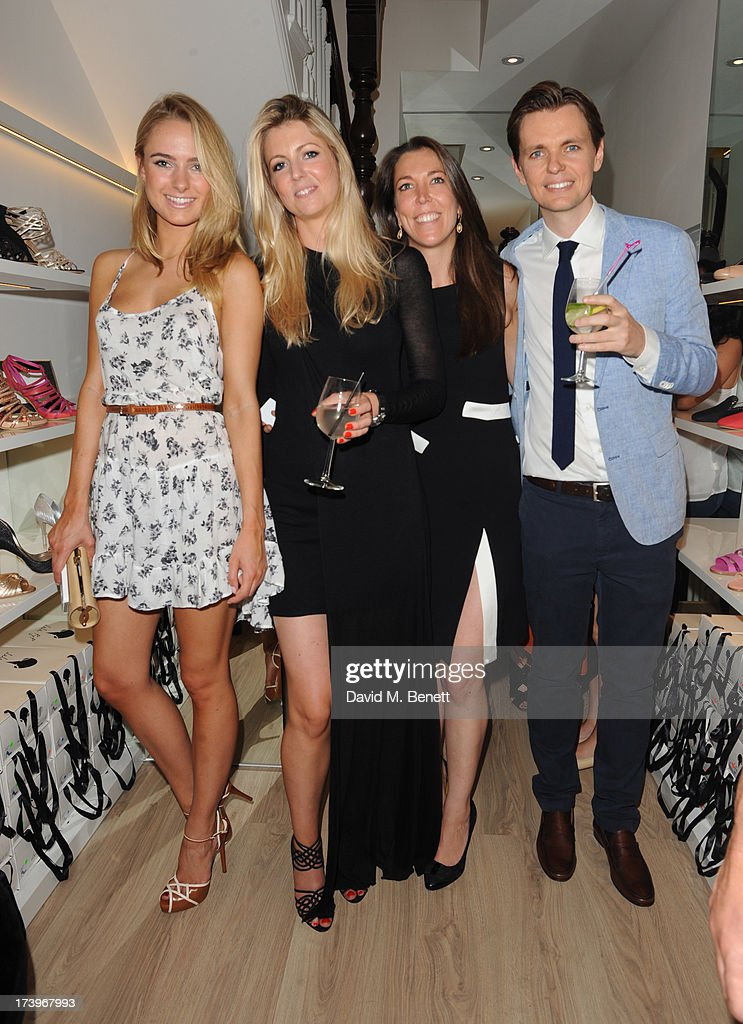 <a gi-track='captionPersonalityLinkClicked' href=/galleries/search?phrase=Kimberley+Garner&family=editorial&specificpeople=9081186 ng-click='$event.stopPropagation()'>Kimberley Garner</a>, Stephanie Mueller Knab, Samantha Mueller Knab and Bernardo Mueller Knab attend Swiss luxury shoe brand Lele Pyp VIP London store launch party on July 18, 2013 in London, England.
