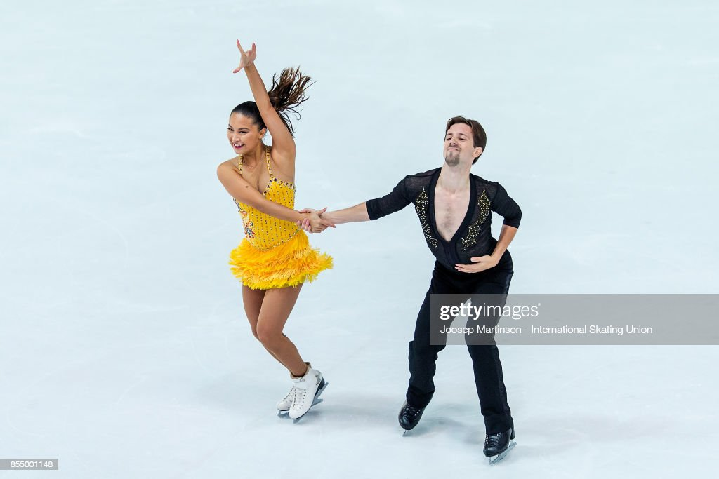 Kimberley Hew-Low and Timothy Mckernan of Australia compete in the Ice Dance Short Dance during the Nebelhorn Trophy 2017 at Eissportzentrum on September 28, 2017 in Oberstdorf, Germany.