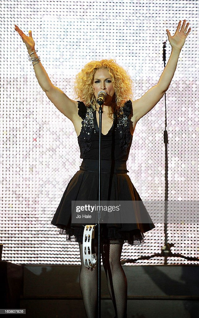Kimberley Schlapman of Little Big Town performs on stage on Day 1 of C2C: Country To Country Festival 2013 at O2 Arena on March 16, 2013 in London, England.
