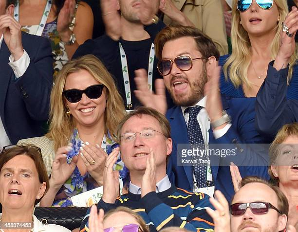 Kimberley Walsh and Brian Dowling attend day six of the Wimbledon Tennis Championships at Wimbledon on July 02 2016 in London England