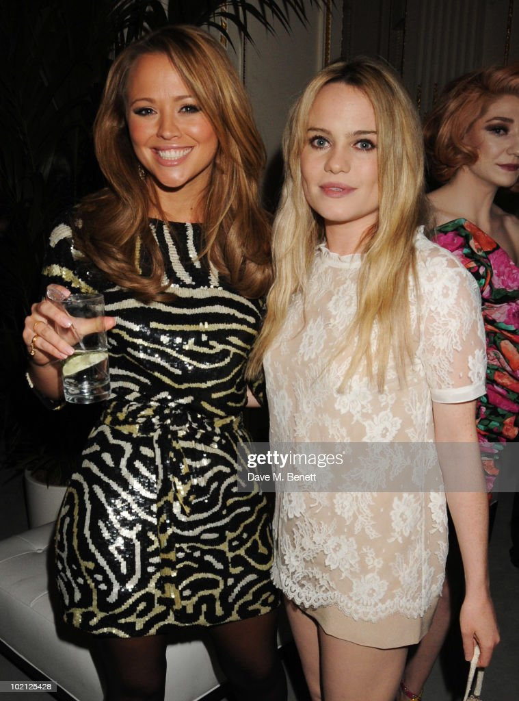 Kimberley Walsh (L) and Duffy attend the Lucian Grainge VIP Party on June 15, 2010 in London, England.