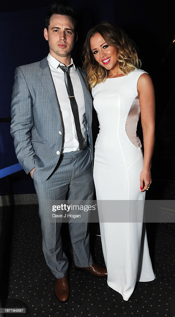 <a gi-track='captionPersonalityLinkClicked' href=/galleries/search?phrase=Kimberley+Walsh&family=editorial&specificpeople=202674 ng-click='$event.stopPropagation()'>Kimberley Walsh</a> and her brother Adam Walsh attend the UK premiere of 'All Stars' at The Vue West End on April 22, 2013 in London, England.