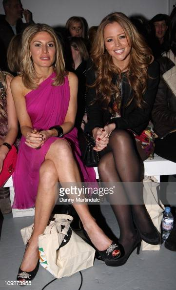 Kimberley Walsh and Hofit Golan are seen on the front row at the Ashley Isham show at London Fashion Week Autumn/Winter 2011 on February 18 2011 in...