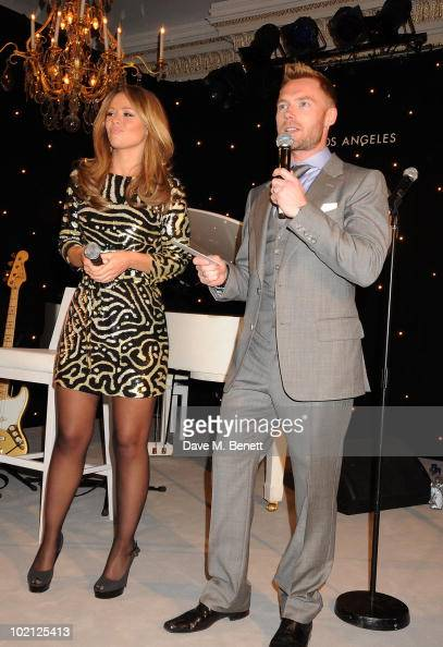 Kimberley Walsh and Ronan Keating attend the Lucian Grainge VIP Party on June 15 2010 in London England