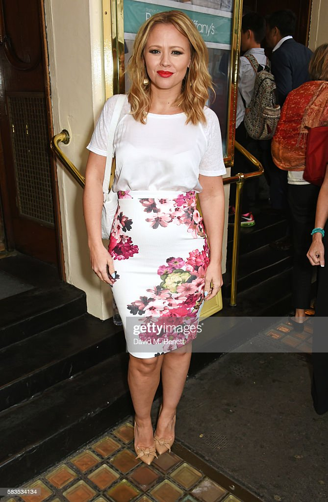 Kimberley Walsh arrives at the press night performance of 'Breakfast at Tiffany's' at the Theatre Royal Haymarket on July 26, 2016 in London, England.