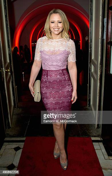 Kimberley Walsh attends a fundraising event in aid of the Nepal Youth Foundation at Banqueting House on October 1 2015 in London England