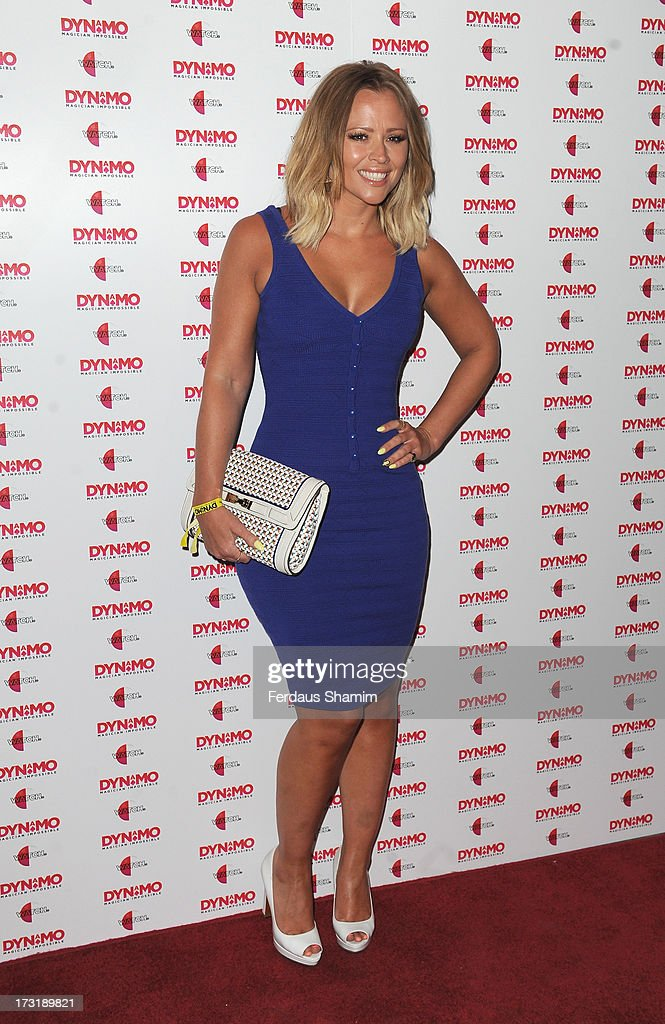 Kimberley Walsh attends Dynamo's secret London gig on July 9, 2013 in London, England.
