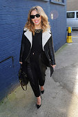 Kimberley Walsh attends filming for a Sport Relief Sketch at Sarm West Studios on March 5 2014 in London England